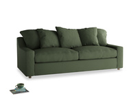 Large Cloud Sofa in Forest Green Clever Linen