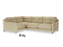 Large Left Hand Slim Jim Corner Sofa in Parchment Clever Linen