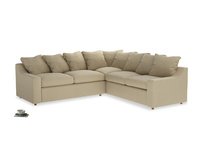 Even Sided Cloud Corner Sofa in Hopsack Bamboo Softie