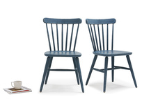 Pair of Natterbox In Inky Blue kitchen chairs