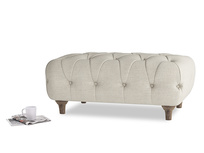 Rectangle Dimple Footstool in Thatch house fabric