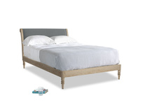 Double Darcy Bed in Cornish Grey Bamboo Softie