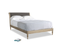 Double Darcy Bed in Everyday Grey Clever Cord