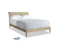 Double Darcy Bed in Hopsack Bamboo Softie