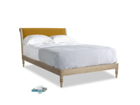Double Darcy Bed in Saffron Yellow Clever Cord