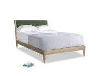 Double Darcy Bed in Forest Green Clever Linen
