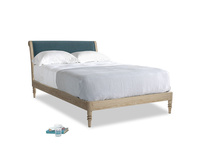 Double Darcy Bed in Lovely Blue Clever Cord