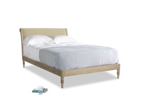 Double Darcy Bed in Parchment Clever Linen