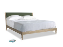 Superking Darcy Bed in Forest Green Clever Linen