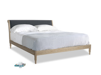Superking Darcy Bed in Scandi grey Clever Cord