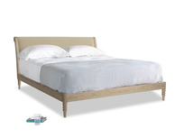 Superking Darcy Bed in Hopsack Bamboo Softie