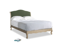 Double Coco Bed in Forest Green Clever Linen