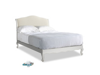 Double Coco Bed in Scuffed Grey in Alabaster Bamboo Softie