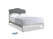 Double Coco Bed in Scuffed Grey in Cornish Grey Bamboo Softie