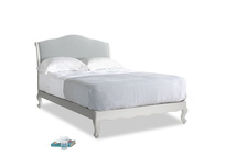 Double Coco Bed in Scuffed Grey in Gull Grey Bamboo Softie