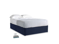 Double Tight Space Storage Bed in Indian Blue Clever Cord