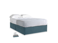 Double Tight Space Storage Bed in Lovely Blue Clever Cord