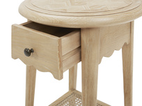 Agatha small oak side table drawer