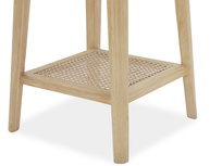Agatha rattan oak bedside table legs