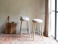 Booty oak kitchen stool