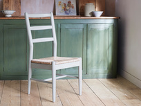 Hobnob grey rustic farmhouse chair