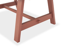 Trestle Dining Table in Earthy Red Corner Detail