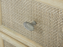 Little Willow small rattan bedside table drawer handle