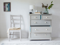 Popinjay tall wooden bedroom drawers