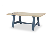 Trestle Dining Table in Heritage Blue