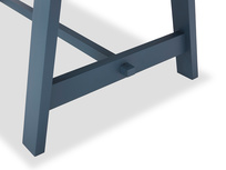 Trestle Kitchen Table in Blue Leg View