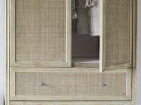 Willow rattan mid century armoire