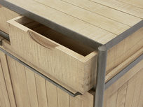 Servery oak sideboard drawer detail