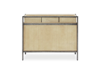 Servery oak sideboard back view