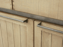 Servery oak sideboard handle detail