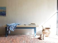 Plonk blue dining room bench