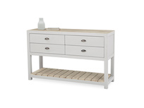 Provender sideboard in grey front detail with prop