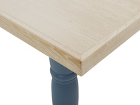 Scullery kitchen table in blue corner detail