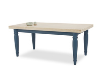 Scullery kitchen dining table front detail with prop