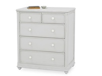 Popinjay grey chest of drawers front detail with prop