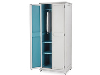 Grand popinjay slimline wardrobe inside detail with prop