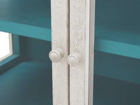 Molly display glass and wood dresser handle detail