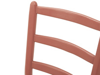 Hobnob in rust farmhouse curved back dining chair back