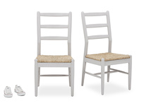 Hobnob grey wooden kitchen chair pair and prop