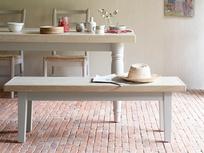 Plonk grey dining room bench
