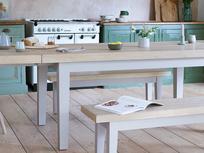 Pantry grey farmhouse oak top kitchen table