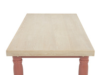 Scullery kitchen table in red side detail
