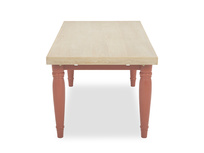 Scullery kitchen dining table in red side view