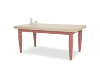 Scullery kitchen table in red with prop