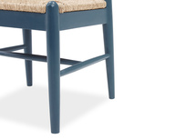 Hobnob in heritage blue dining chair leg detail