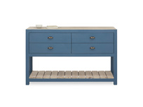 Provender sideboard in blue front detail with prop